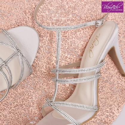 Belle High Heel Ankle Strap with Rhinestone