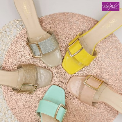 Aria Slip On Sandal with Buckle